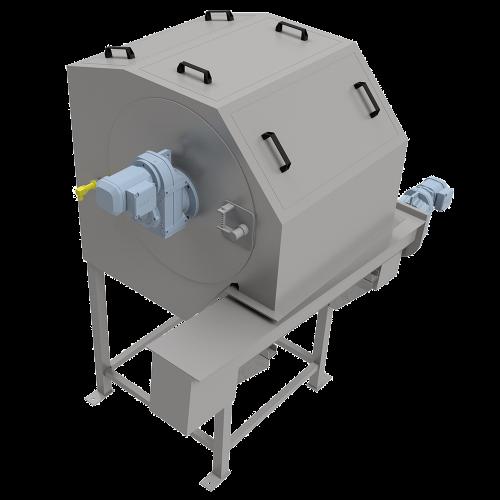 PWLTrommelsieb TFS 6090 mit Spiralförderer SF 200